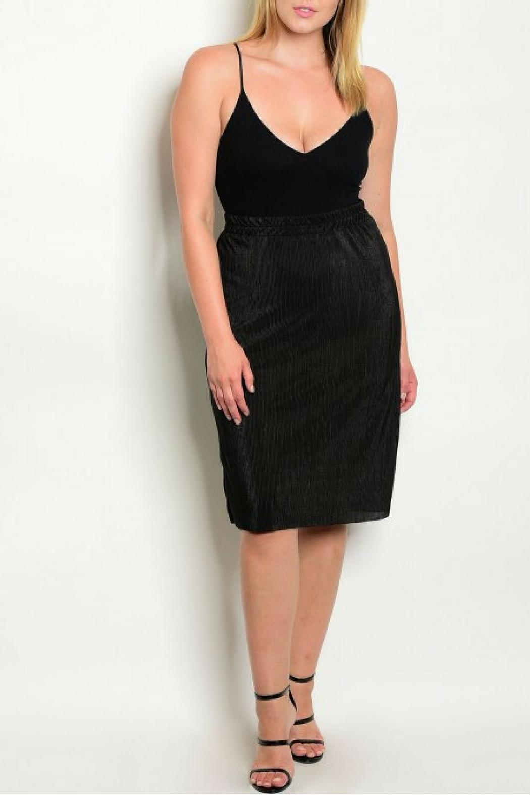 Check it Out Plus Black Skirt - Side Cropped Image