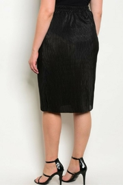 Check it Out Plus Black Skirt - Front full body