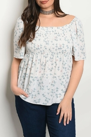 Check it Out Plus White Floral Top - Product Mini Image