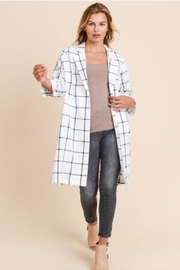 Doe & Rae Checked Long Blazer - Product Mini Image