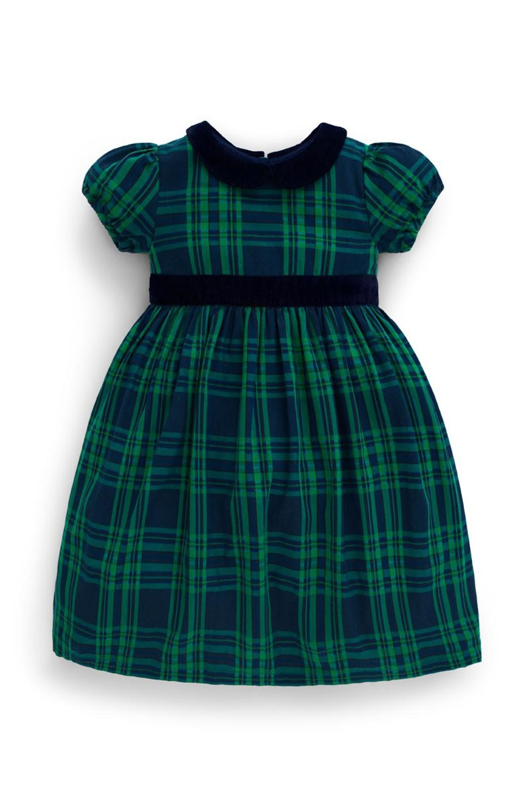 JoJo Maman Bebe Checked Party Dress - Front Cropped Image