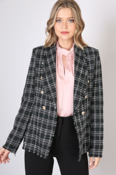 Olivaceous  Checked Tweed Blazer - Product List Image