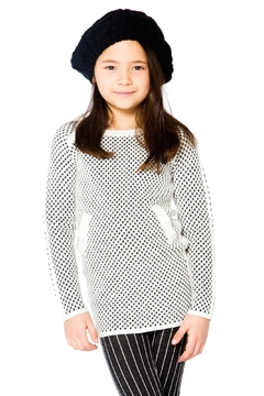 Deux Par Deux Checker Long Sweater - Product List Image