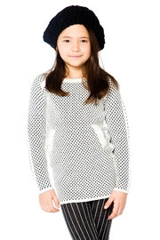 Deux Par Deux Checker Long Sweater - Front cropped