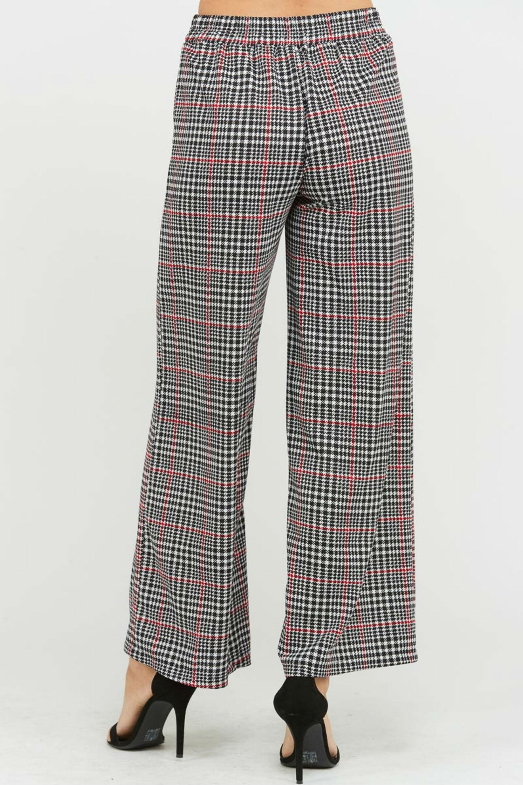 Rosette Checker Pants - Side Cropped Image