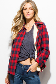 MONTREZ CHECKER PLAID FLEECE LINED FLANNEL - Product Mini Image