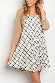 Lyn -Maree's Checker Swing Dress - Product Mini Image