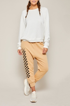 All Things Fabulous Checkerboard Lowrider Sweats - Alternate List Image
