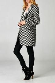 Esley Collection Checkered Coat - Product Mini Image