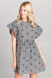 Racine Checkered Embroidered Mini-Dress - Product Mini Image