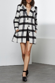 Shilla Checkered Long Coat - Front cropped