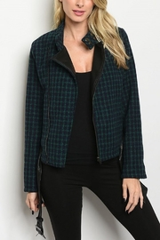 Lyn-Maree's  Checkered Moto Jacket - Product Mini Image
