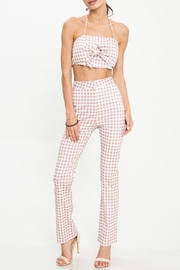 Latiste Checkered Pant Set - Front cropped