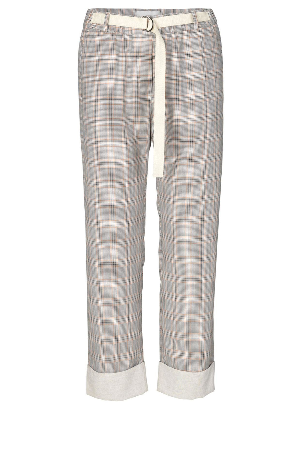 Munthe Checkered Pants - Back Cropped Image