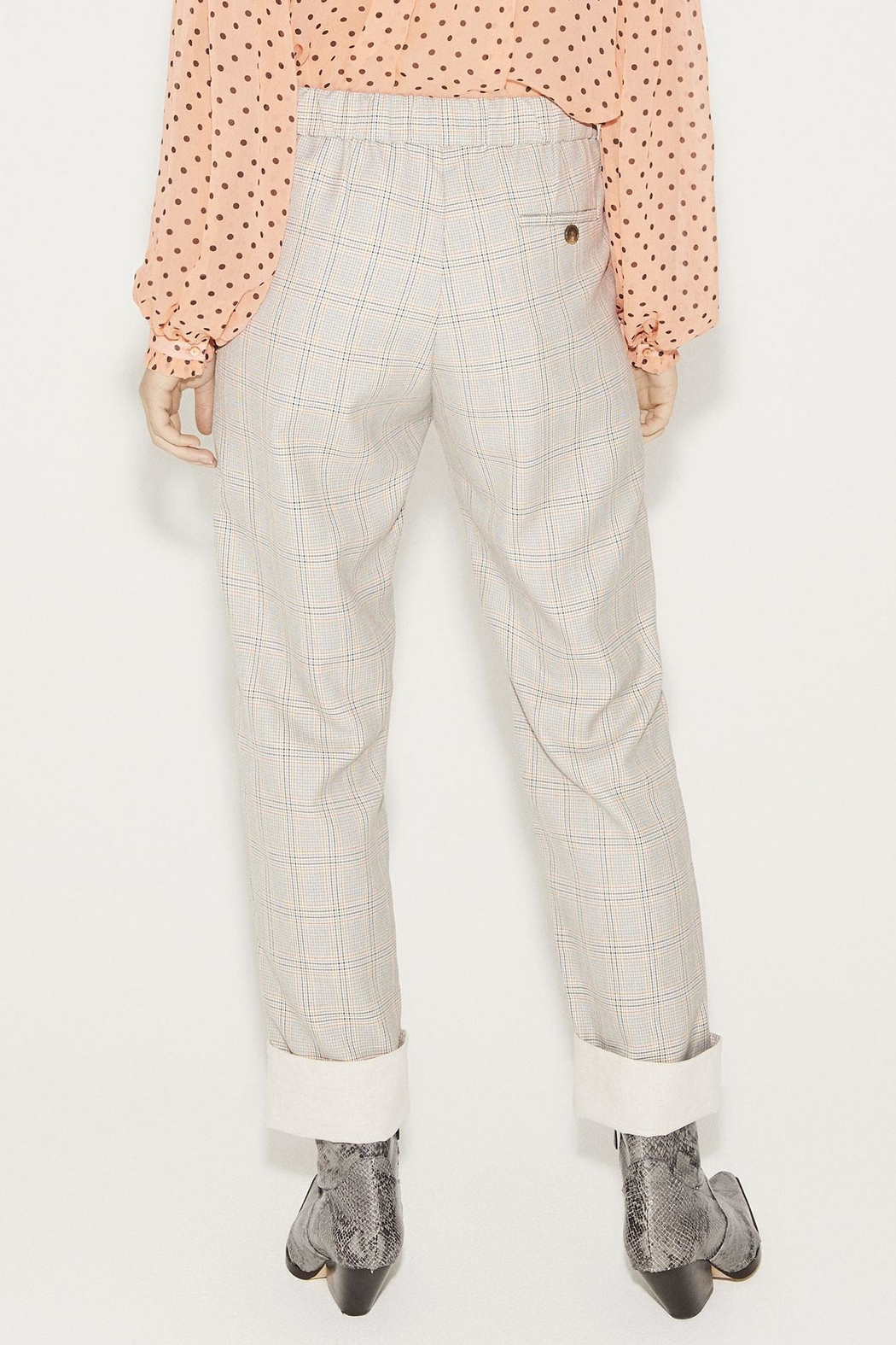 Munthe Checkered Pants - Front Full Image