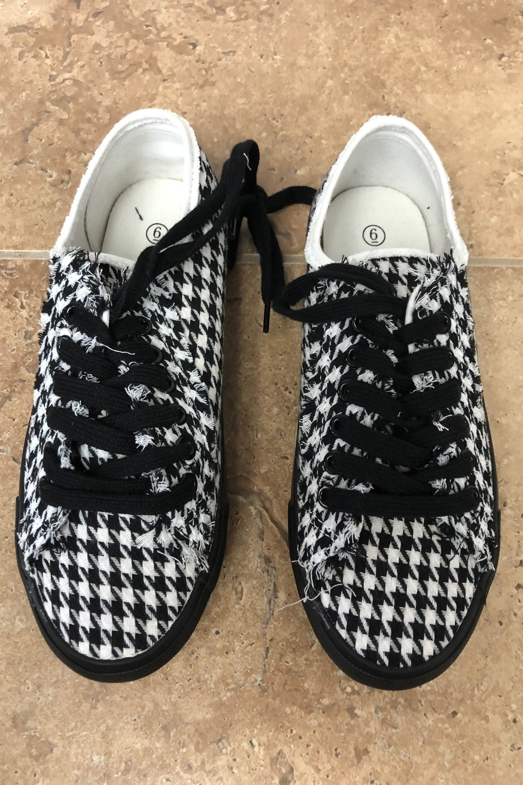Giftcraft Inc.  Checkered Printed Sneakers - Front Full Image
