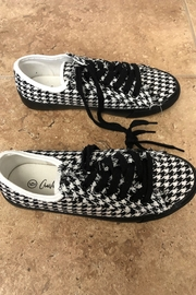 Giftcraft Inc.  Checkered Printed Sneakers - Front cropped