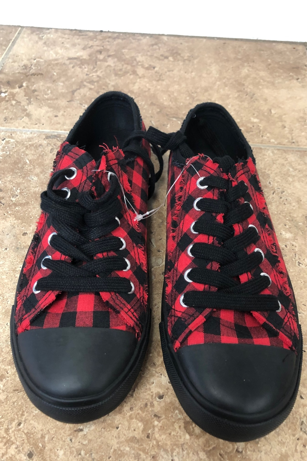 Giftcraft Inc.  Checkered Printed Sneakers - Main Image