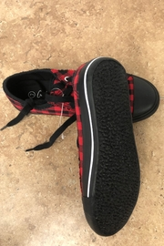 Giftcraft Inc.  Checkered Printed Sneakers - Front full body