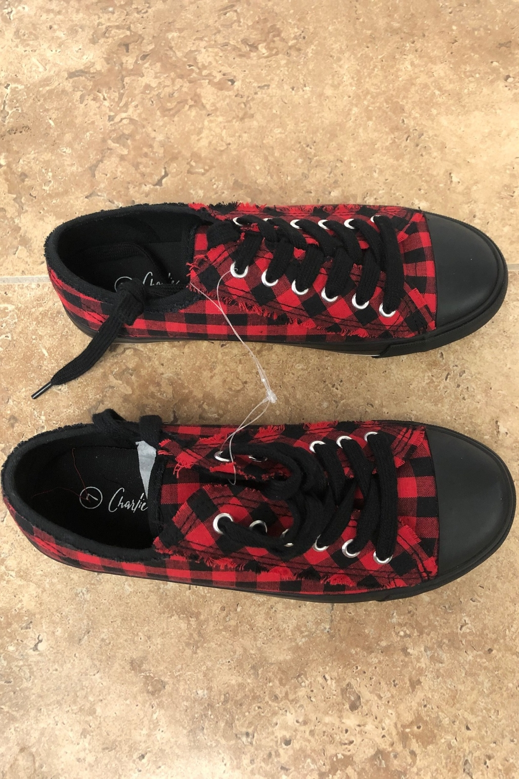 Giftcraft Inc.  Checkered Printed Sneakers - Side Cropped Image