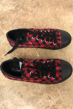 Giftcraft Inc.  Checkered Printed Sneakers - Alternate List Image