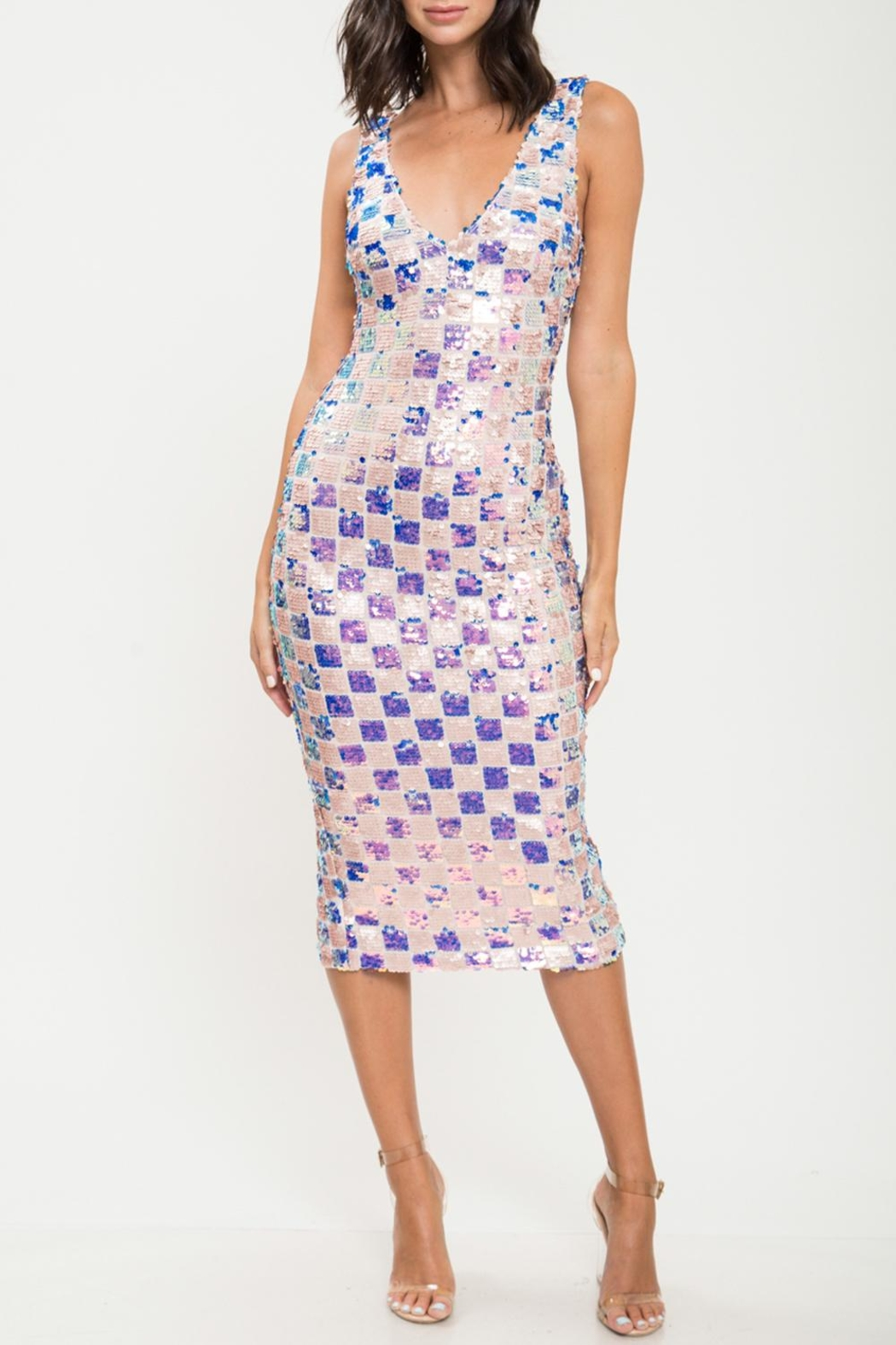 9ebb9480fa84 L atiste Checkered Sequin Dress from Florida by Apricot Lane St ...