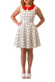 Smak Parlour Checkered Sleeveless Dress - Product Mini Image