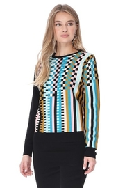 Yal NY Checkered sweater with solid black back - Product Mini Image