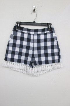 English Factory Checkered Tassel Shorts - Alternate List Image