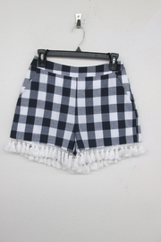 English Factory Checkered Tassel Shorts - Product Mini Image