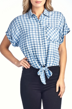 Shoptiques Product: Checkered Tie Top