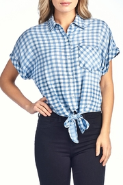Sneak Peek Checkered Tie Top - Product Mini Image