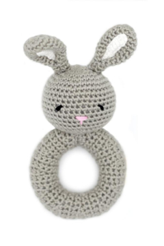 Cheengoo Bunny Ring Hand Crocheted Rattle - Alternate List Image