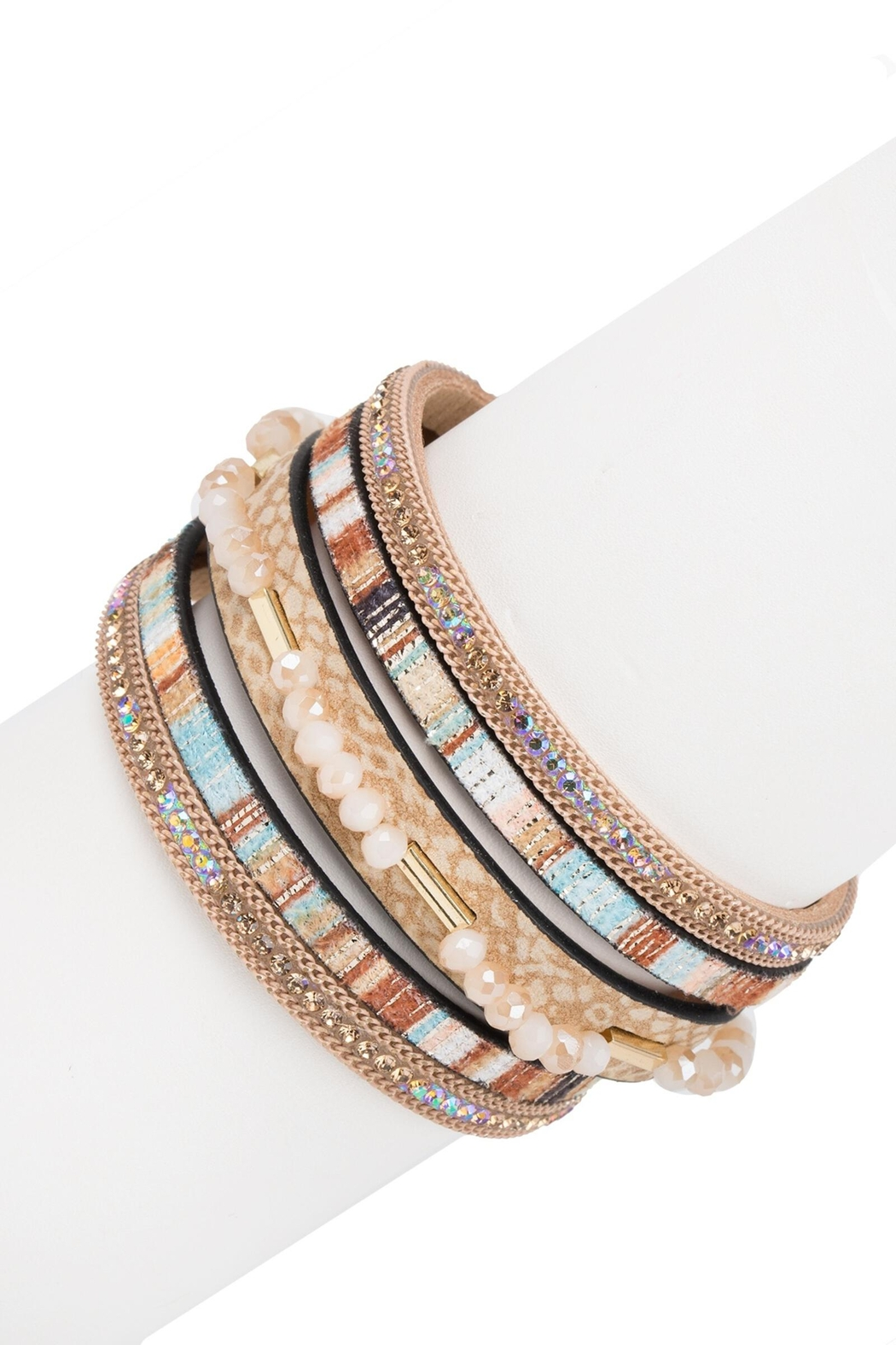 Saachi Cheerful Beaded Bracelet - Front Full Image