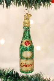 Old World Christmas Cheers Champagne Bottle - Product Mini Image