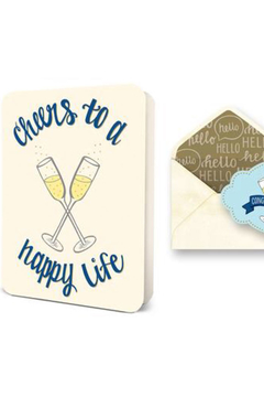 Shoptiques Product: Cheers to a Happy Life Card
