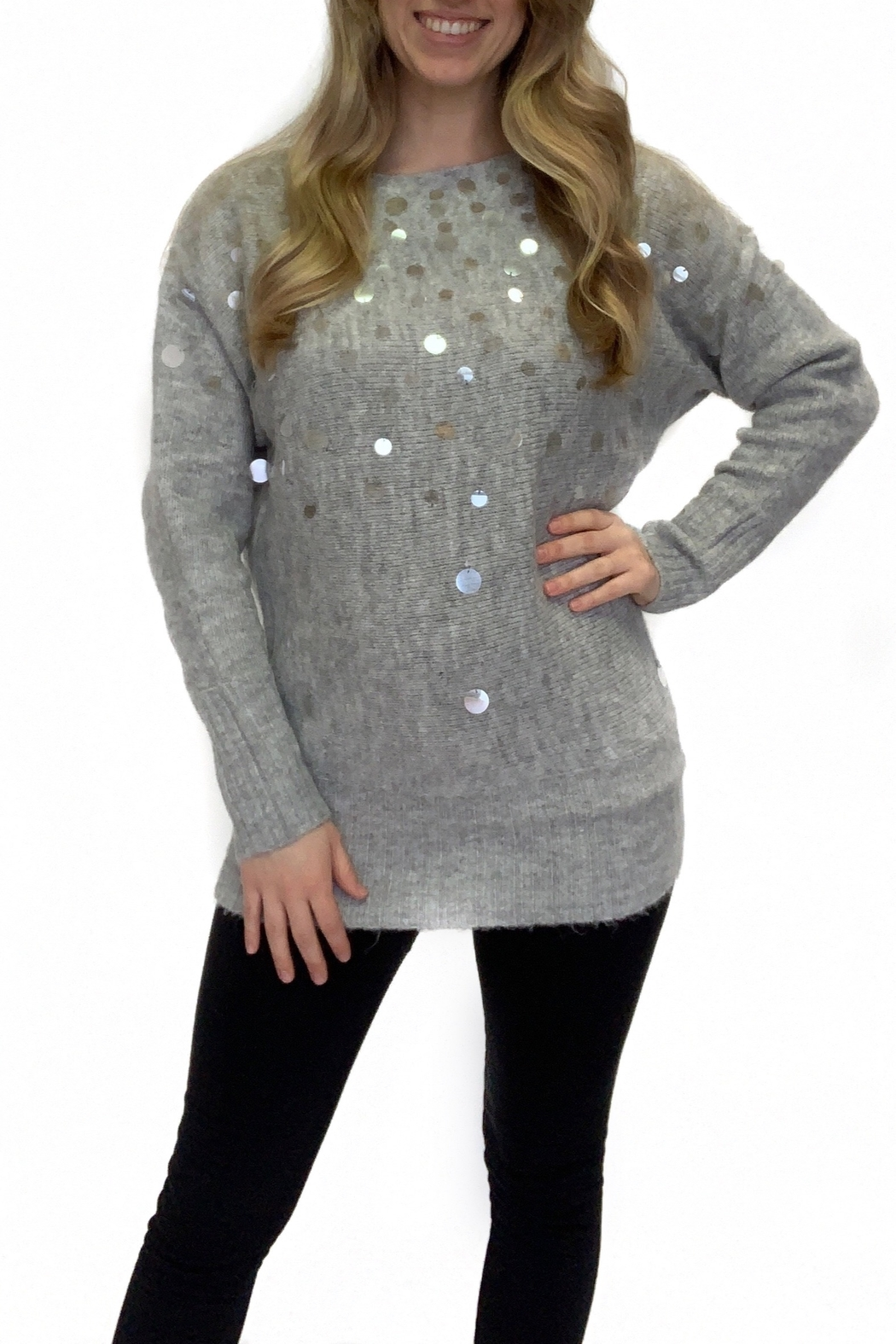 Kayla's Armoire Cheers to Fun sweater - Front Cropped Image