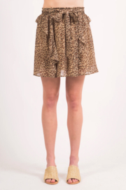 LoveRiche Cheeta MiniSkirt - Front cropped