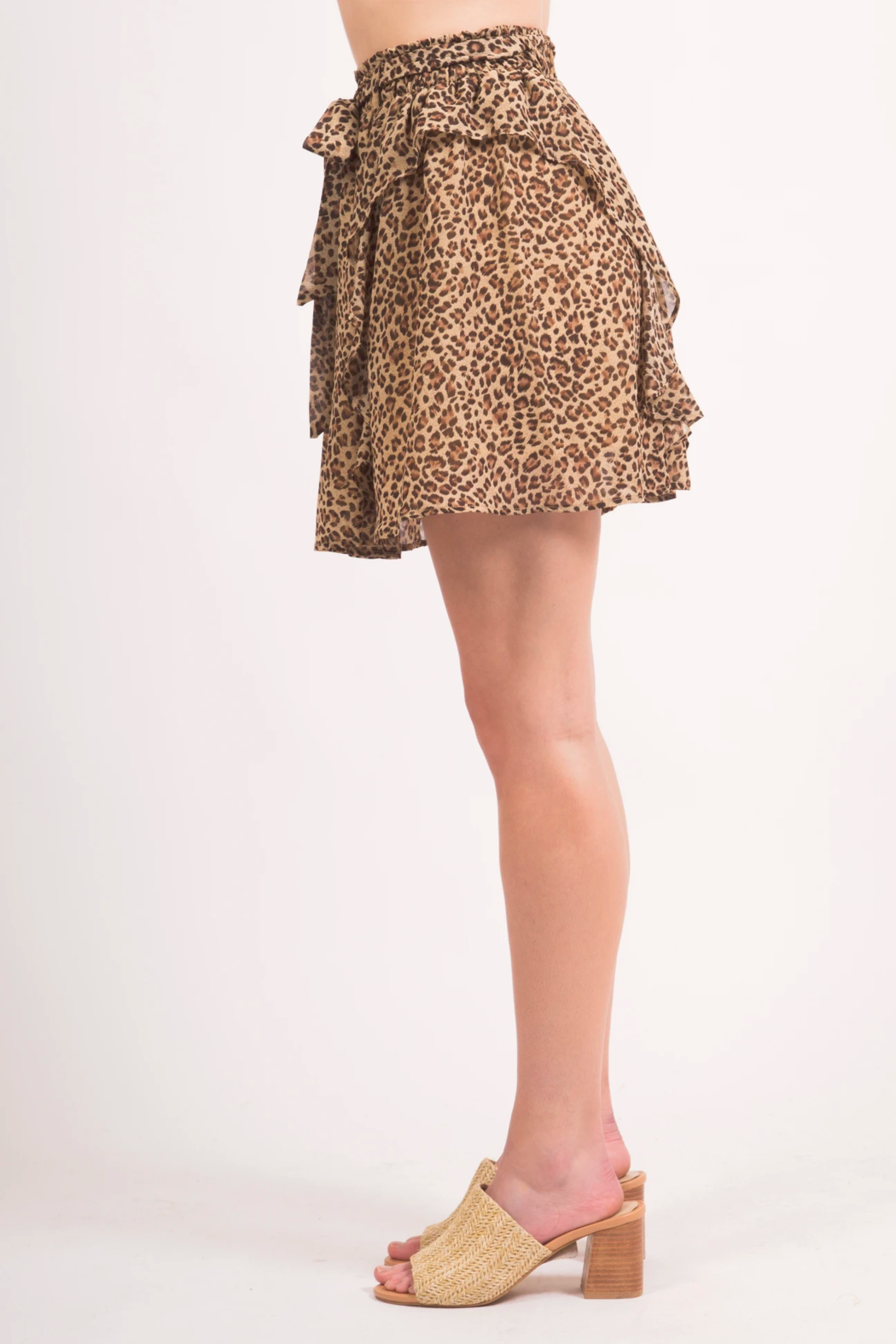 LoveRiche Cheeta MiniSkirt - Back Cropped Image