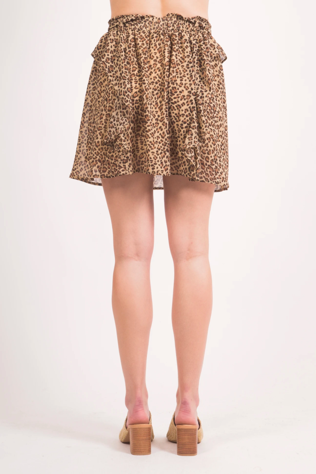 LoveRiche Cheeta MiniSkirt - Side Cropped Image