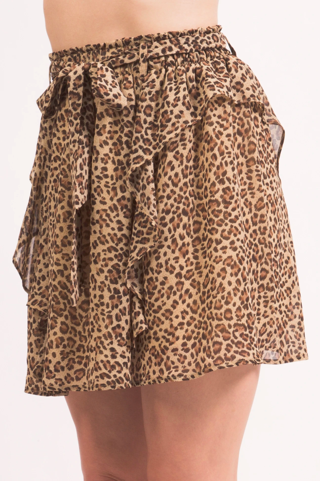 LoveRiche Cheeta MiniSkirt - Front Full Image