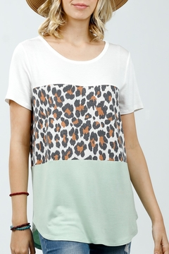 Shoptiques Product: Cheetah Block Tee