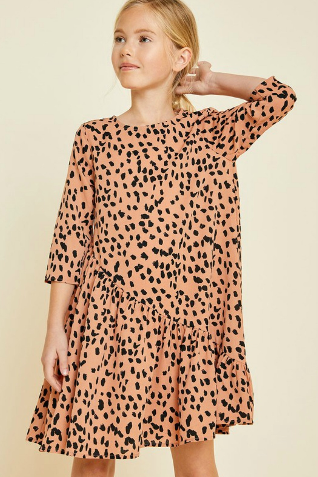 R+D emporium  Cheetah Blush Dress - Main Image