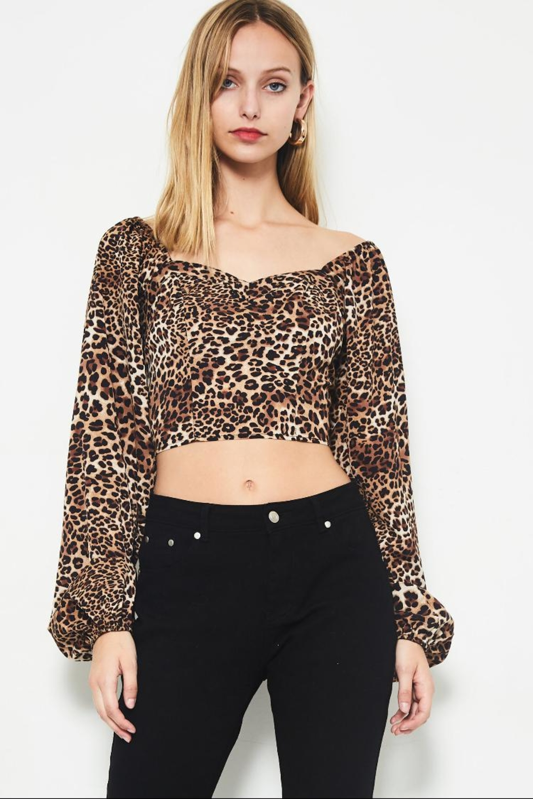 630315846568a etophe studios Cheetah Crop Top from Los Angeles by Chikas — Shoptiques