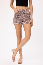 KanCan Cheetah Denim Shorts - Product Mini Image