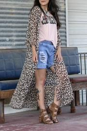 Turquoise Haven Cheetah Duster - Product Mini Image