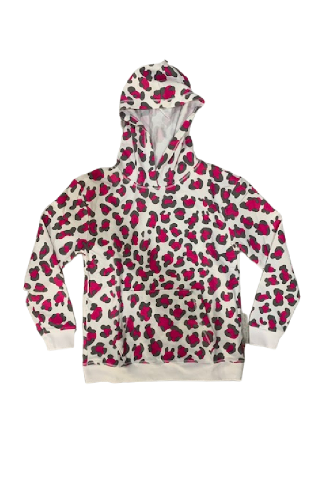 T2 Love Cheetah Girl Hooded Pullover - Main Image