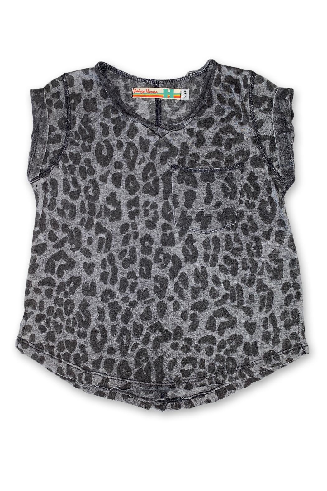 Vintage Havana Cheetah Jersey Tee - Front Cropped Image