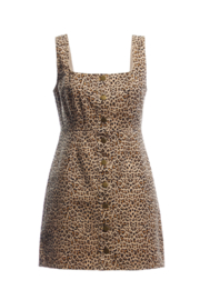 Renamed Clothing Cheetah Jumper Dress - Product Mini Image
