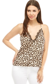 Do & Be Cheetah Lace Top - Product Mini Image